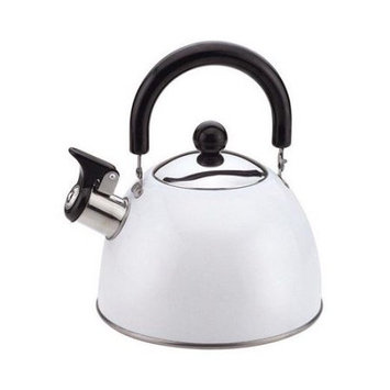 Culinary Edge 2.0-qt. Stainless steel Tea Kettle in White