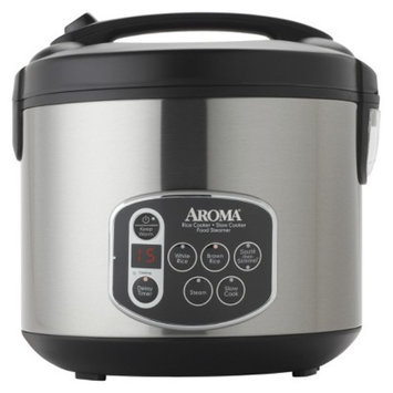 Aroma Digital Rice Cooker - Stainless Steel (20 cups)