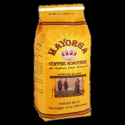 Mayorga Coffee Roasters African Blend Medium/Dark Roast Whole Bean Coffee