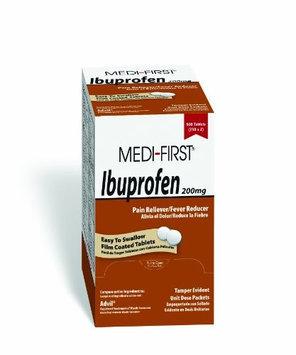 MEDI-FIRST 80813 Ibuprofen, Tablet,200mg, PK500