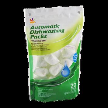 Ahold Dishwashing Packs Fresh Scent - 20 CT