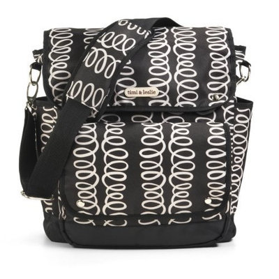 Timi And Leslie timi & leslie 2 in 1 Backpack Diaper Bag, Mackenzie Black (Discontinued by Manufacturer)