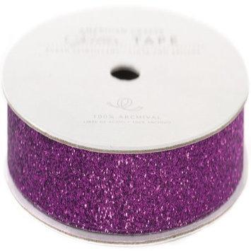 American Crafts AC-GT-96059 Glitter Paper Tape 3 Yards-Spool-Grape .375 in.