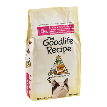 The Goodlife Recipe Cat Food Salmon, Brown Rice & Garden Greens