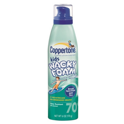 Coppertone Kids Wacky Foam SPF 75