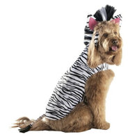 Boots & Barkley Boots and Barkley Zebra Partial/Hoodie Pet Costume - Large