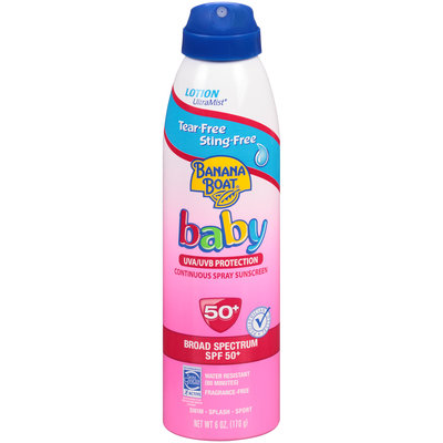 Banana Boat Baby Ultramist Continuous Lotion Spray Sunscreen Tear Free