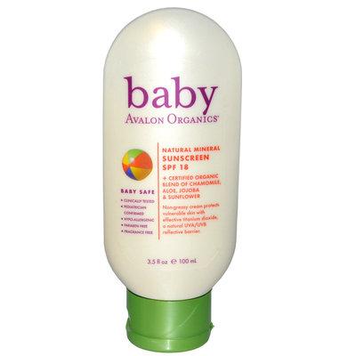 Avalon Organics Baby Natural Mineral Sunscreen Spf 18
