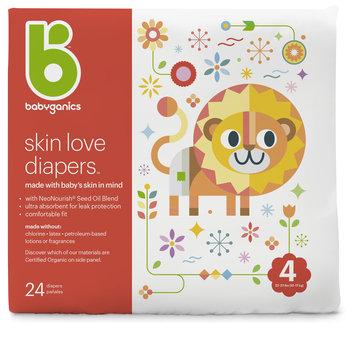 babyganics skin love diapers size 4