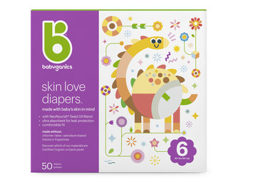 babyganics skin love diapers size 6
