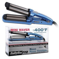 CONAIR BABNT3350 BLUE MINI WAVER FOR HAIR BABYLISS PRO NANO