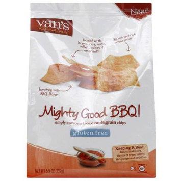 Vans Van's Natural Foods Mighty Good BBQ! Baked Multigrain Chips, 5.5 oz, (Pack of 6)