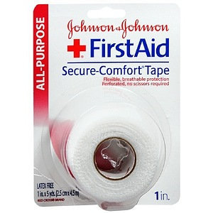Johnson & Johnson First Aid Secure-Comfort Cloth Tape 1 in x 5 yds
