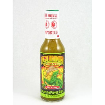 Iguana Mean Green Jalapeno Pepper Sauce 5oz (Pack of 12)