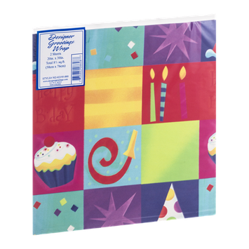 Designer Greetings Wrap - 2 CT