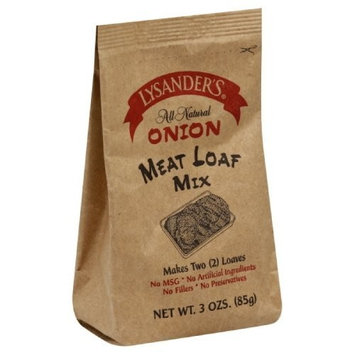 Lysander's Meat Loaf Mix Onion, 3-Ounce (Pack of 6)