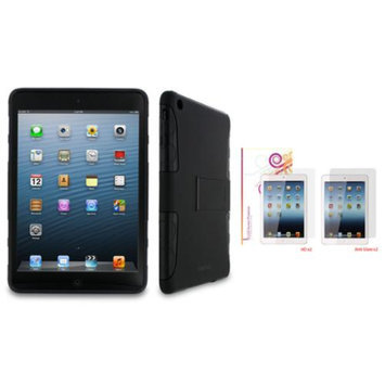 rooCASE eXTREME Hybrid TPU Shell Case Stand with 4-Pack LCD for Apple iPad Mini