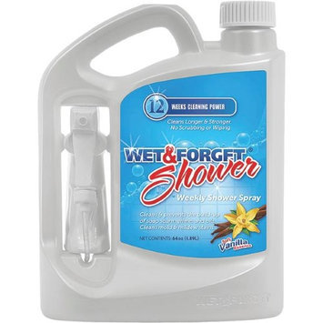 WET And Forget Shower Cleaner (64 oz, Vanilla, Clear). Model: 801064