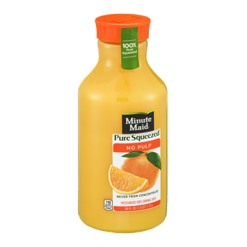 Minute Maid 100% Pure Squeezed No Pulp Orange Juice