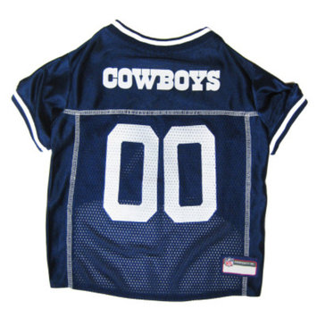 Doggie Nation.com Dallas Cowboys White Trim Dog Jersey Large