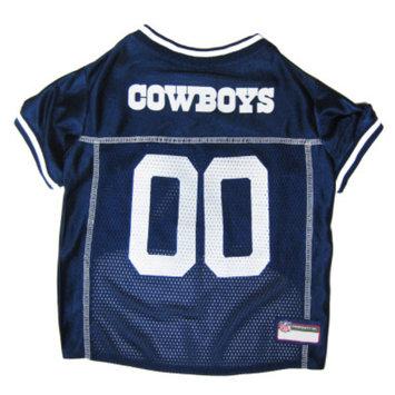 Doggie Nation.com Dallas Cowboys White Trim Dog Jersey Large