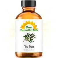 Sun Organic Tea Tree - LARGE 4 OUNCE - 100% Pure Essential Oil (Best 4 fl oz / 118 ml)