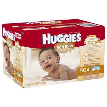 Huggies Soft Skin Baby Wipes, Refill, 504 ea