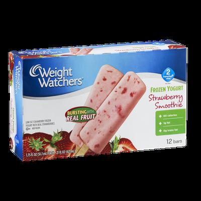 Weight Watchers Frozen Yogurt Bar Strawberry Smoothie -12 CT