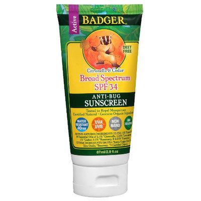 BADGER® SPF 34 Sunscreen & Bug Repellent