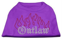 Mirage Pet Products 5252 SMPR Outlaw Rhinestone Shirts Purple S 10