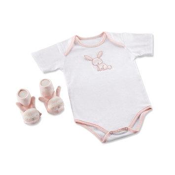 Baby Aspen Girls 2 Piece Honey Bunny Layette Set