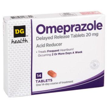 DG Health Omeprazole Acid Reducer - 14 ct