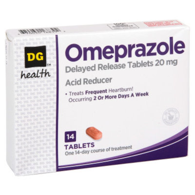 DG Health Omeprazole Acid Reducer - 14 ct