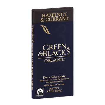 Green & Black's Organic Hazelnut & Currant Dark Chocolate