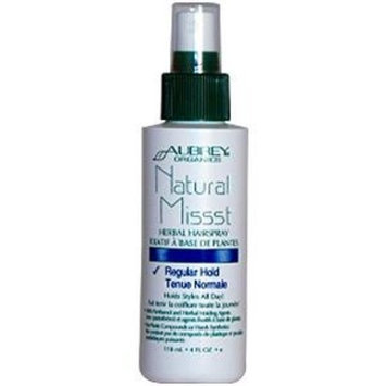 Aubrey Organics Natural Missst Herbal Hairspray -- 4 fl oz