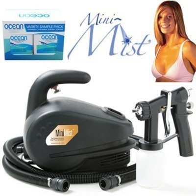 Apollo MINI-MIST HVLP Sunless Airbrush Tanning System Complete Spraying System With 4 Types Of DHA Solution