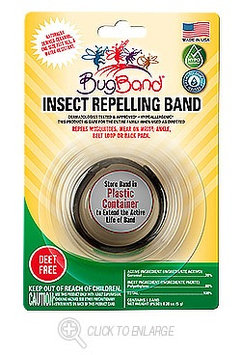 BugBand Insect Repelling Band | Black