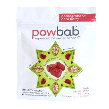 Powbab - Superfruit Chews Pomegranate Acai Berry - 6 Chews