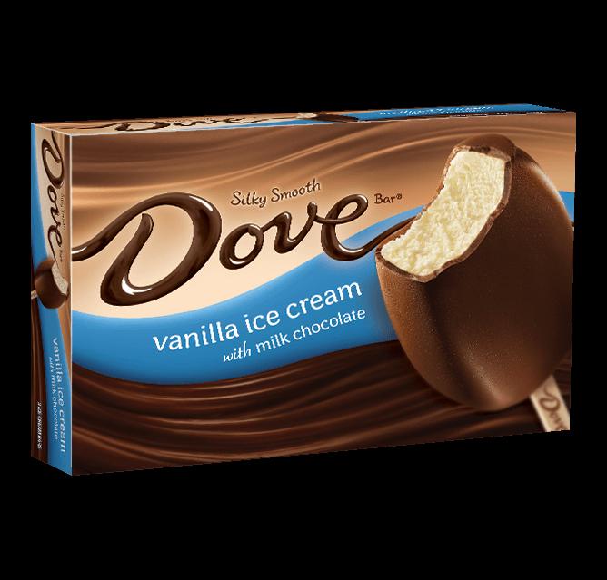 Dove Chocolate Vanilla Ice Cream With Milk Chocolate
