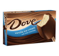 Dove Chocolate Vanilla Ice Cream With Milk Chocolate