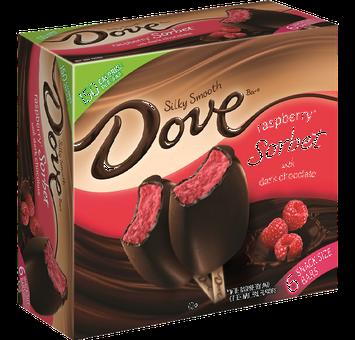 Dove Chocolate Raspberry Dovebar Raspberry Sorbet With Dark Chocolate