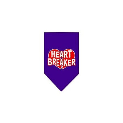 Ahi Heart Breaker Screen Print Bandana Purple Large