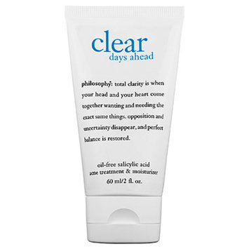 philosophy clear days ahead oil-free salicylic acid acne treatment & moisturizer