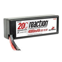 Reaction 11.1V 4000mAh 3S 20C LiPo Hard Case: EC3