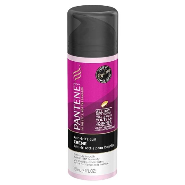 Pantene Pro-V Curly Hair Style Anti-Frizz Straightening Hair Creme
