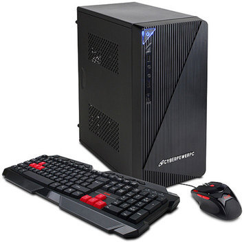 CyberpowerPC CYBERPOWERPC Essential-K EK3000 Desktop PC with Intel Pentium G3240 Dual-Core Processor, 4GB Memory, 128GB Solid State Drive and Windows 8.1 Professional (Monitor Not Included)