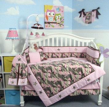 Soho Camouflage Baby 14 Piece Crib Nursery Bedding Set