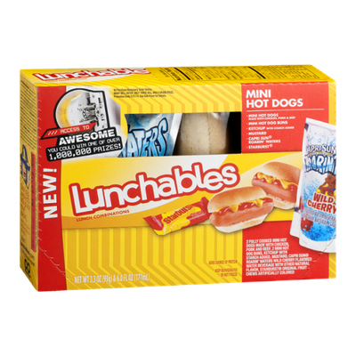Lunchables Mini Hot Dogs Lunch Combinations