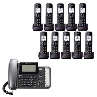 Panasonic KX-TG9582B + (8)KX-TGA950B 10 Handset Corded - Cordless 2 Li