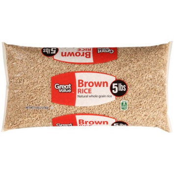 Walmart Great Value Brown Rice, 5 lbs